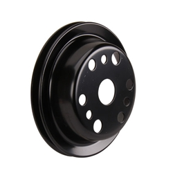 Lightweight Black Crank Pulley- 3rd groove, Chevy