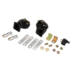 Black 12 Volt Horn Kit
