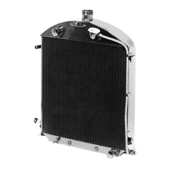 Walker C-487-1 Cobra 1928-1929 Ford Model A Radiator for Chevy Engine