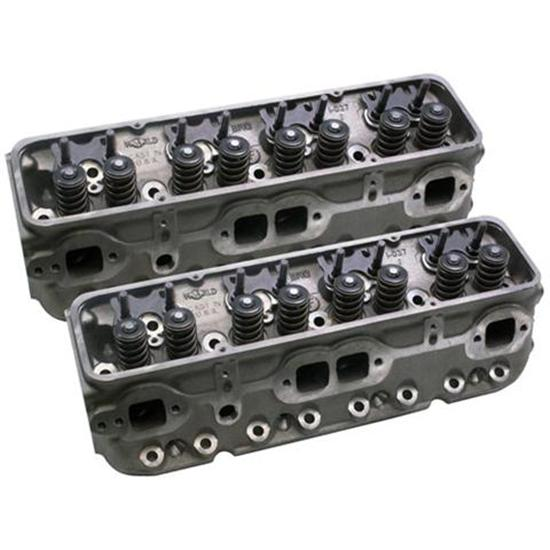 World Sportsman II Small Block Chevy Iron Heads, Angle Plug