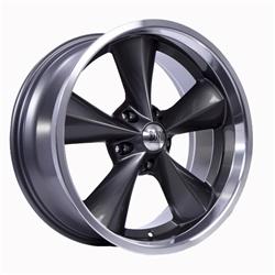 Boyds Wheels BC1-876540G Junkyard Dog 18x7 Gray Wheel, 5 on 4-1/2