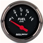 Auto Meter 1418 Designer Black Air-Core Fuel Level Gauge, 2-1/16 Inch