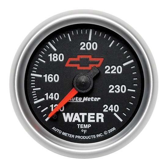 Auto Meter 3632-00406 GM Black Mechanical Water Temperature Gauge