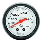 Auto Meter 5741 Phantom Mechanical Oil Temperature Gauge, 2-1/16 Inch