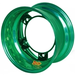 Aero 51-900565GRN 51 Series 15x10 Wheel, Spun, 5 on WIDE 5, 6-1/2 BS