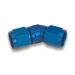 Earls 939106ERL Blue 45 Degree Low Profile -6 AN Fem to Fem Swivel