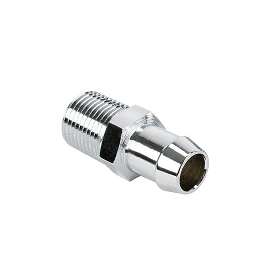 Short Chrome Heater Hose Fitting, 5/8 Inch Hose