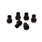 Aluminum Tube Nut Sleeves, -4 AN, 1/4 Inch, Black, Pack of 6