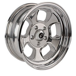 Team III Wheels ET Five Window Wheel-Pol-15x6-5 on 4.5-2-3/4 Backspace
