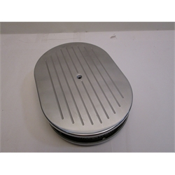 Garage Sale - Ball Milled Billet Aluminum Oval Air Cleaner, 12 Inch