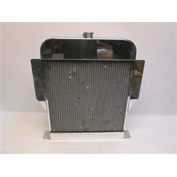 Garage Sale - AFCO 1949-53 Ford Aluminum Radiator, Ford Engine, Polished, No Trans Cooler
