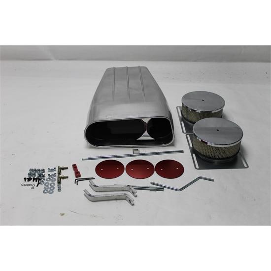Shotgun Air Scoop Linkage : Garage sale holley dual quad enderle style air