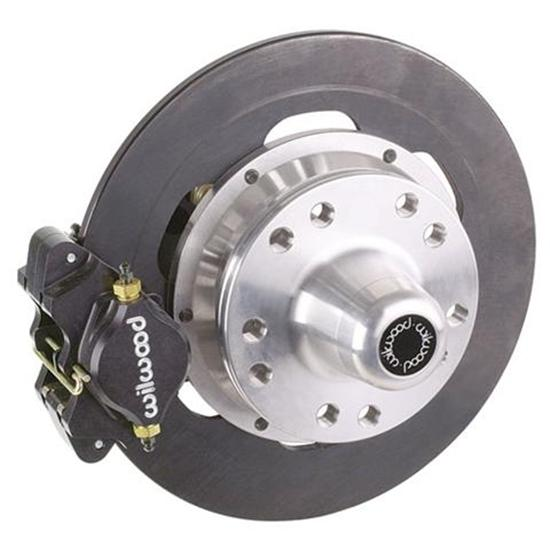 Wilwood Disc Brake Kit for 1949-54 Chevy Spindles, 2-Piston, Steel Rotor