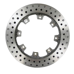 AFCO 6640119 12.19 Inch Pillar Vane Drilled Rotor, 1.25 Inch, LH Side