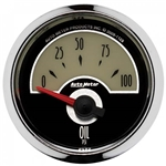 Auto Meter 1128 Cruiser Air-Core Oil Pressure Gauge, 2-1/16 Inch