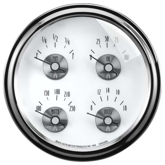 Auto Meter 2019 Prestige Pearl Air-Core Fuel Level Gauge, 2-1/16 Inch