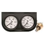 Auto Meter 2326 Auto Gage Mechanical 2 Gauge Console, Oil/Water