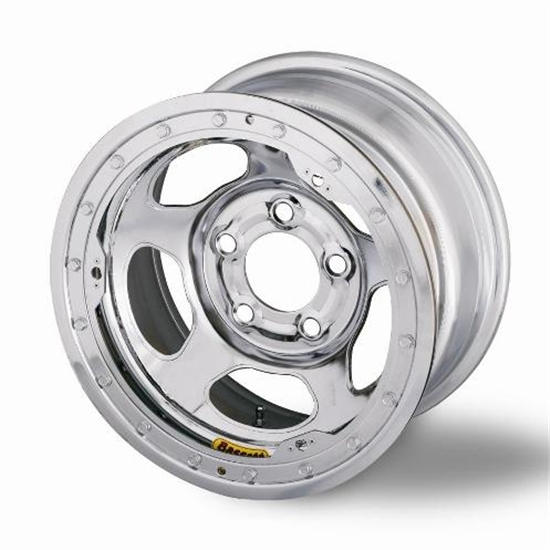 Bassett 58A52CL 15X8 Inertia 5 on 5 2 Inch BS Chrome Beadlock Wheel