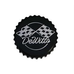 Dewitts 514B Billet Aluminum 15lb. Radiator Cap,  Grip,  Black
