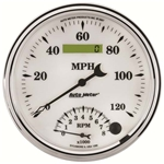 Auto Meter 1290 Old-Tyme White II Air-Core Tach/Speedo Combo Gauge