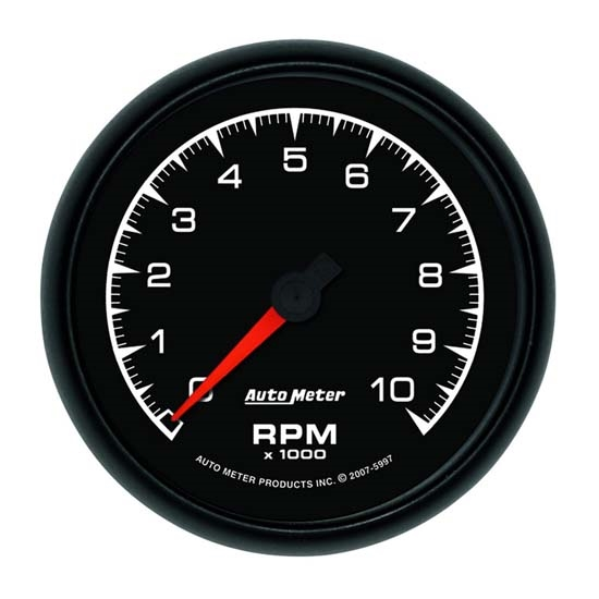 Auto Meter 5997 ES Air-Core In-Dash Tachometer Gauge, 3-3/8 Inch