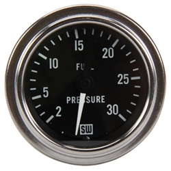 Stewart Warner 82320 2-1/16 Inch Deluxe Mechanical Fuel Pressure Gauge