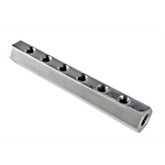 Hex Polished Aluminum Fuel Block, 6-Hole