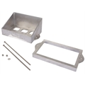 Plain Aluminum Battery Box Kit