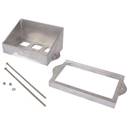 Speedway Plain Cast Aluminum Battery Box Mount Kit