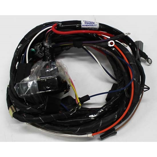 m h electric 16380 engine wiring harness w warning lights 72 v8 free shipping speedway