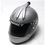 Garage Sale - Impact Racing SA10 Super Sport Air Racing Helmet, Silver, Size XL