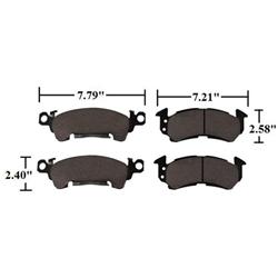 AFCO 1251-2052 C2 Pads, D52 Standard GM