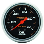 Auto Meter 5421 Pro-Comp Mechanical Oil Pressure Gauge, 100 PSI, 2-5/8