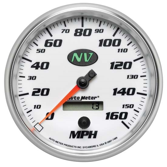 Auto Meter 7489 NV Air-Core Electric Speedometer, 5 Inch