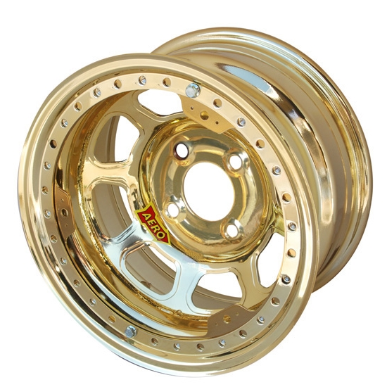 Aero 33-984010GOL 33 Series 13x8 Wheel, Lite, 4 on 4 BP, 1 Inch BS