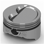 KB Chevy 350 Hypereutectic Pistons, Dish, 6.0 Inch Rod