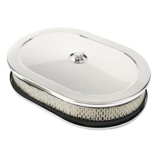 Speedway Chrome Oval Air Cleaner, 12 Inch