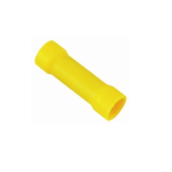 Yellow Vinyl Butt Connectors, 12-10 Gauge
