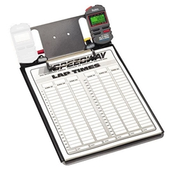 Clipboard with One Robic SC-848 Stopwatch and Lap Sheets