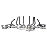318-360 Mopar Header Kit, 1-3/4 Tube, 3 Inch Collector