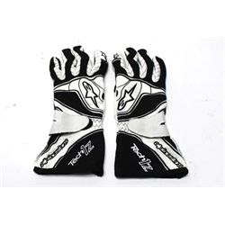 Garage Sale - Alpinestars Tech 1-Z Gloves, Black/White, Size Large