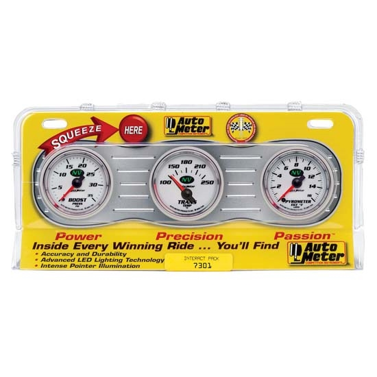 Auto Meter 7301 NV Interact Pack Diesel Gauge Set, EGT/Boost/Trans