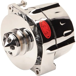 Powermaster 37295 Smooth-Look Chrome Alternator, 140 Amp, GM 12si