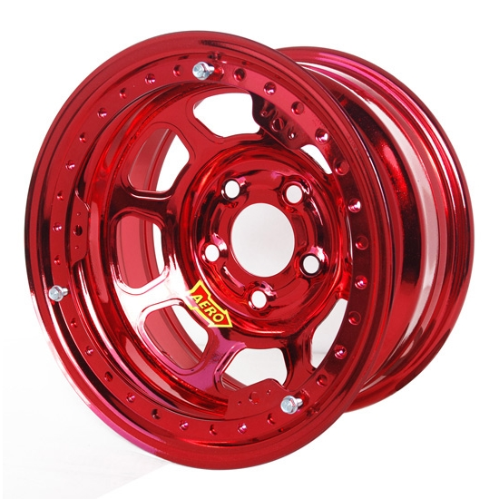 Aero 53985020XRED 53 Series 15x8 Inch Wheel, BL, 5 on 5 BP 2 Inch BS