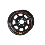 Bassett 50SN45 15X10 D-Hole Lite 5on100mm 4.5 In Backspace Black Wheel