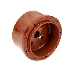 GM Aluminum Woodgrain Steering Wheel Adapter, 9 Bolt