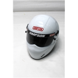 Garage Sale - Simpson X-Bandit SA2010 Racing Helmet, White, Size 7