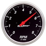Auto Meter 1499 Designer Black Air-Core In-Dash Tachometer Gauge