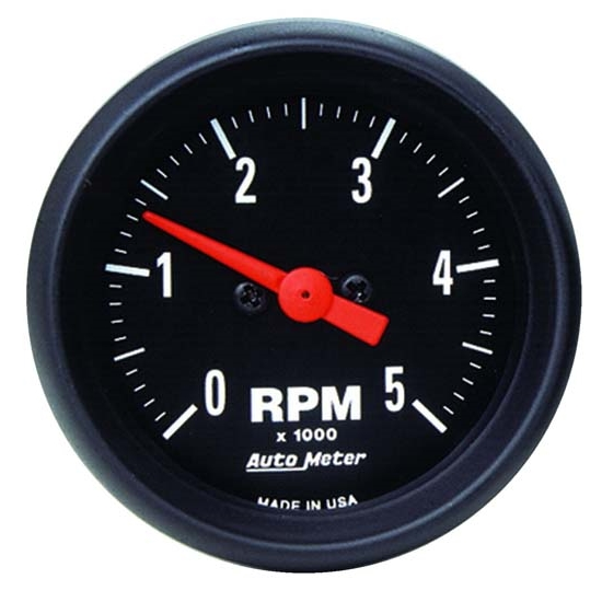 Auto Meter 2697 Z-Series Air-Core In-Dash Tach, 5k RPM, 2-1/16 Inch
