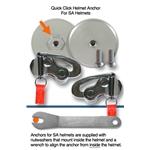 HANS AK1142-2 Quick Click for SA Helmet